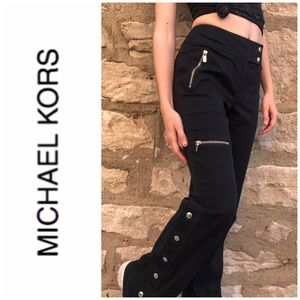 Michael Kors RiRi Snap Button Flare Cargo Pants